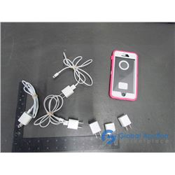 Apple USB Charger Adaptor (6) iPhone USB (3), & iPhone Otter Box