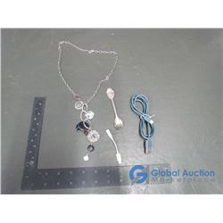 iPhone Adaptor, Collectors Spoon, & Necklace