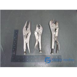(3) Locking Type Pliers