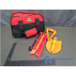Treksafe Emergency Kit With Booster Cables and Folding Shovel