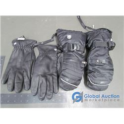 Mens Leather Wallet Windriver Gloves (L), Mens Roots 73 Ski Mitts (XS)