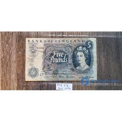 Early Bank of England 5 Pound Note