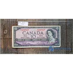 1954 10 Dollar Canada Bill
