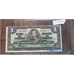 1937 1 Dollar Canada Bill