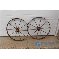 (2) Metal Wheel Rims - Bid Price x2