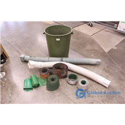 **Barrel of Lawn Edging and (2) Eaves Drain Spouts