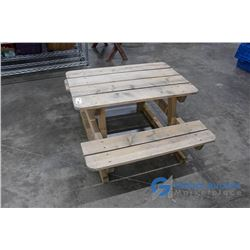 **Children's Wooden Picnic Table