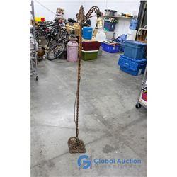 **Antique Wrought Iron Floor Lamp