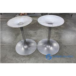 **(2) Aluminum Table Bases/Plant Pot Bases