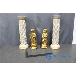 (2) Statues and Pillars