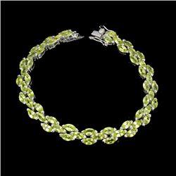Natural Marquise Green Peridot 6x3 MM Bracelet
