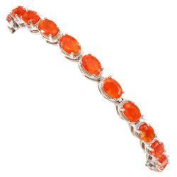 Natural Orange Fire Opal 57.22 Ct Bracelet