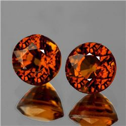 NATURAL UNHEATED RED ORANGE ZIRCON [FLAWLESS-VVS]
