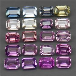 Natural Fancy Color Sapphire 4x3 MM (20 Pcs) -Untreated