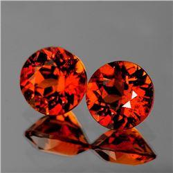 Natural Mandarin Orange Spessartite Garnet Pair {VVS}