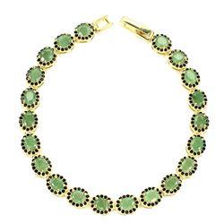 Natural Columbian Green Emerald Black Spinel Bracelet