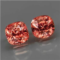 Natural Padparadsha Burma Spinel Pair - Untreated
