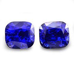 Natural Cushion Royal Blue Sapphire Pair 4.14 Cts