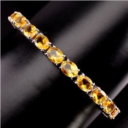 Natural Oval 8x6 mm Top Rich Yellow Citrine Bracelet
