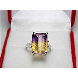 BEAUTIFUL 7.23 CT 100 % NATURAL AMETRINE RING