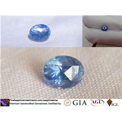 Vivid blue Sapphire, Ceylon, handcrafted | GIA 3.19 ct