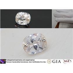 Pastel Orange-Pink Sapphire, premium cut, GIA 1.90 ct