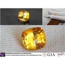 Vivid Orange Ceylon Sapphire premium cut, GIA 1.28 ct
