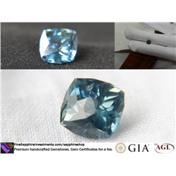 Blue-Green Sapphire, handcrafted premium,GIA 1.85 ct