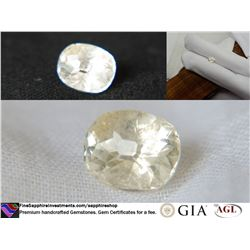 Pastel Yellow premium freehand cut Sapphire,GIA 2.04 ct