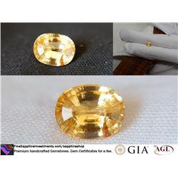 Vivid Orange fine premium cut ceylon sapphire 1.47 ct