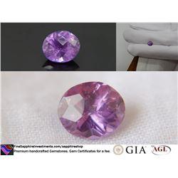 Bi-Color Violet-Pink fine handcrafted Sapphire 1.49 ct