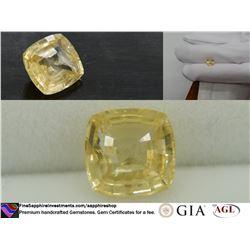 Vivid Lemon-Yellow premium hand-cut Sapphire 2.09 ct