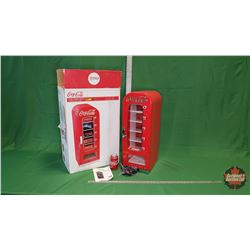 "Coca-Cola Retro Vending Fridge (26""H x 12""D x 9""W) : From Toys & Treasures, Wainwright, AB"