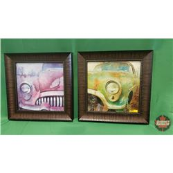 Wall Décor (2): Green Car Front & Wall Décor - Pink Car Front - Brown Frame - Brown Frame : From Toy
