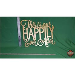 """Wall Décor - Metal Wall Hanging """"This is Our Happy Ever After"""" : From Toys & Treasures, Wainwright,"""