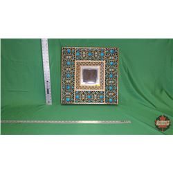 "Indaba Mirror - Copper/Turquoise (20"" x 20"") : From Toys & Treasures, Wainwright, AB"