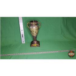 "Vase Mosaic - Black/Gold (15""H) : From Toys & Treasures, Wainwright, AB"