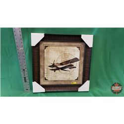 """Wall Décor  -Aircraft in Frame (19.5"""" x 19.5"""") : From Toys & Treasures, Wainwright, AB"""