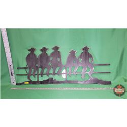 Wall Décor - Cowboys on Fence - Iron : From Toys & Treasures, Wainwright, AB