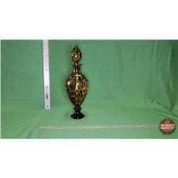 Décor Piece - Vase - Animal Print - Gold/Black Glass : From Toys & Treasures, Wainwright, AB