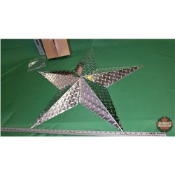 "Wall Décor - Star 36"" (Checker Plate) (Needs Assembly) : From Toys & Treasures, Wainwright, AB"