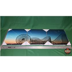 Wall Décor - 3 Pictures - Light Blue - Roller Coaster - Ferris Wheel : From Toys & Treasures, Wainwr