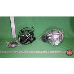 Pair Round Metal Lamps : From Toys & Treasures, Wainwright, AB