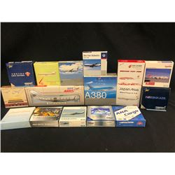 ASSORTED SCALE MODEL PLANES, 16 MODELS TOTAL