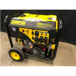 CHAMPION MODEL 100637 GAS GENERATOR, 11250 STARTING WATTS, 9000 RUNNING WATTS, 120/240V