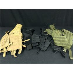 4 ASSORTED TACTICAL STYLE, BLACK, GREEN AND CAMEL BY RAVENX, BLACK BY CONDOR