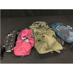 4 ASSORTED OUTDOOR/HIKING BACKPACKS