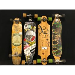 LOT OF 4 LONG BOARDS