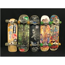 LOT OF 5 SKATEBOARDS