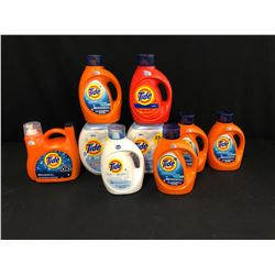 9 CONTAINER OF ASSORTED TIDE DETERGENT AND TIDE PODS